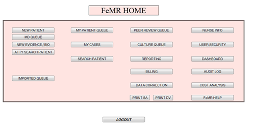 screen shot of FMeR page